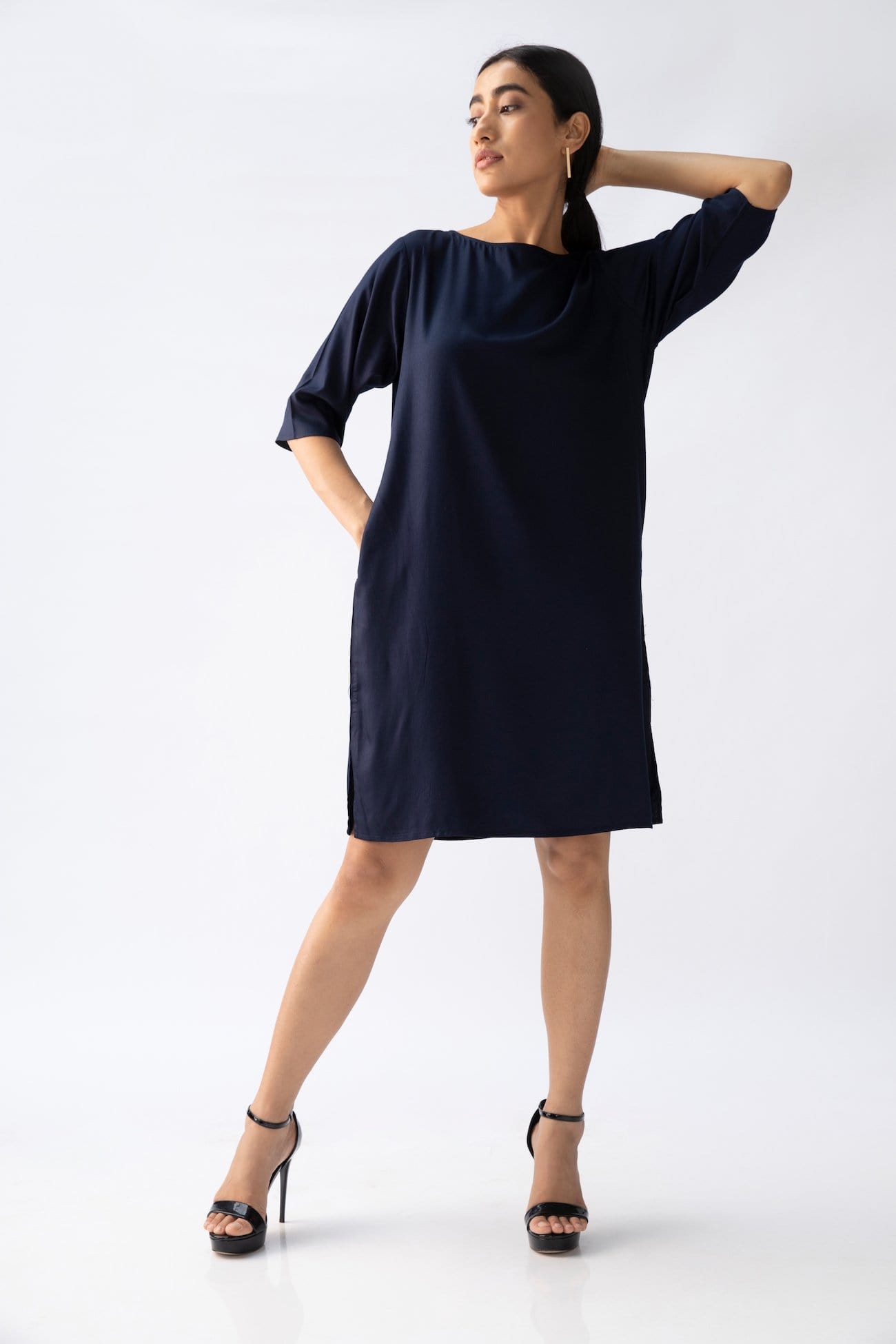 Sack Dress > Navy