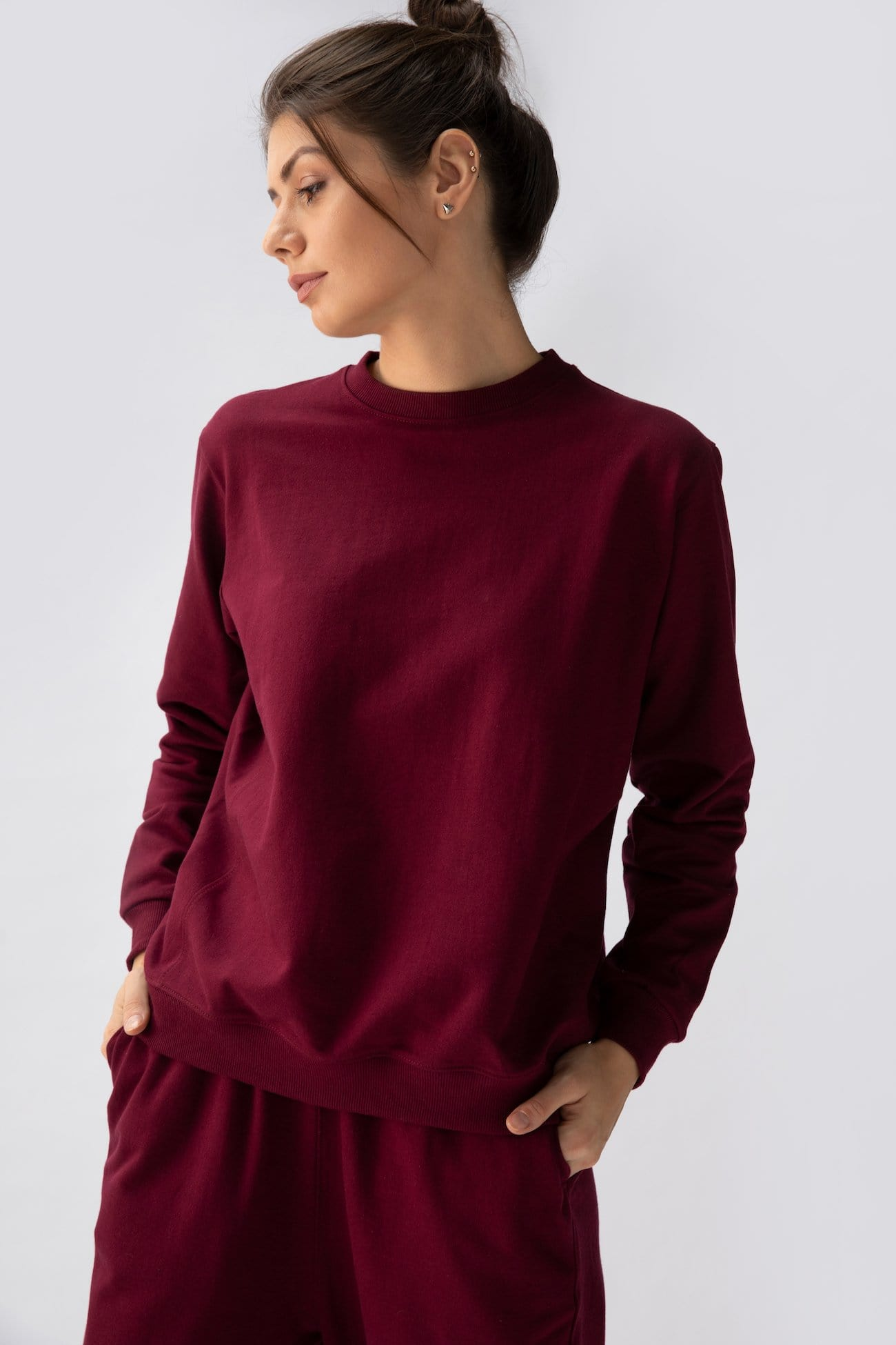Transition sweatshirt > Maroon