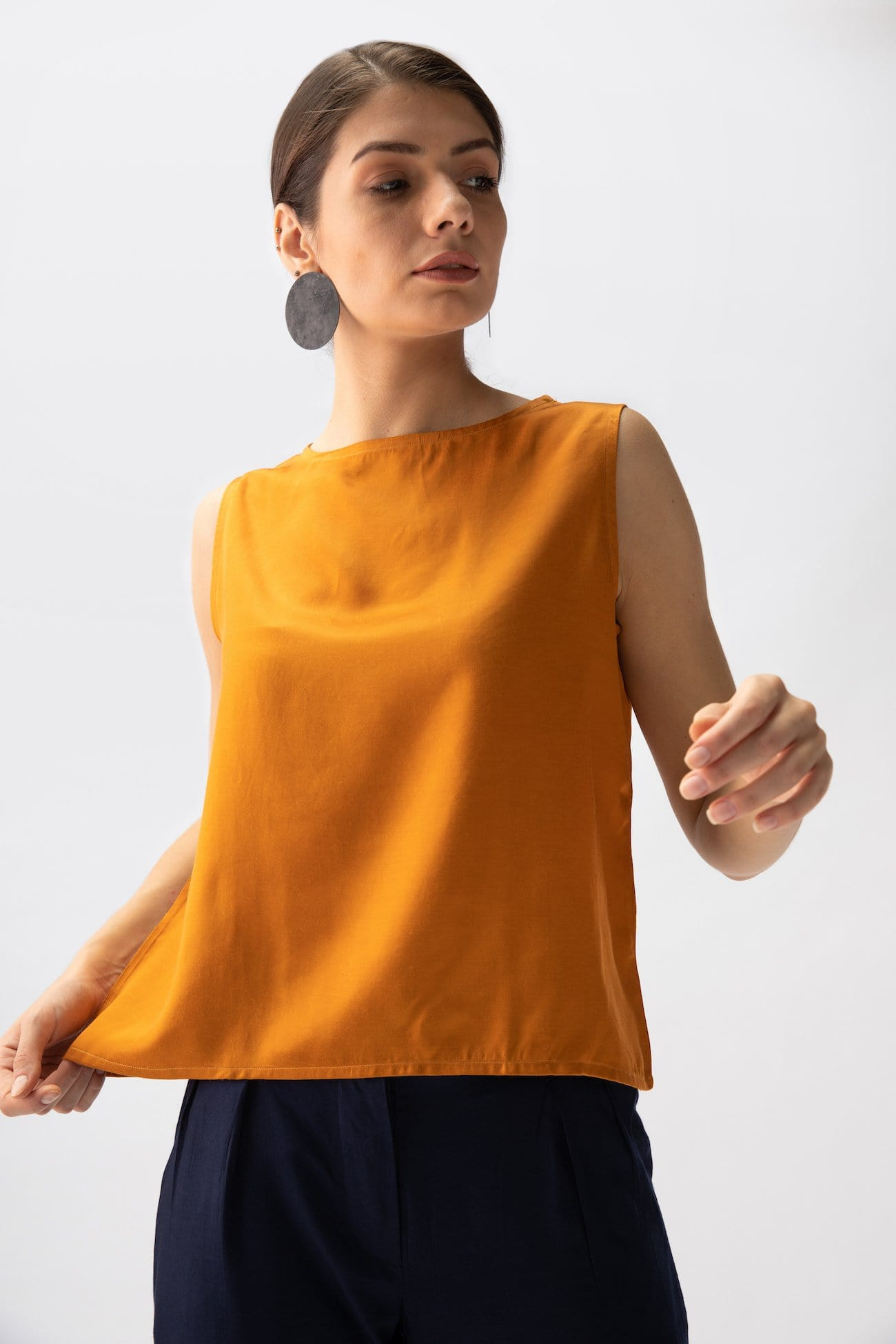 Silky Shell Top > Mustard
