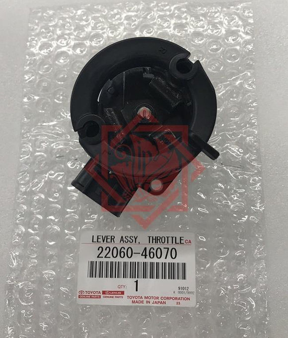 GENUINE 22060-46070 THROTTLE LEVER ASSY, LEXUS IS300 GS300/400/430, JZS160,UZS16 - JP-CARPARTS