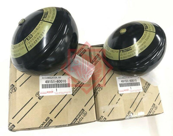 49151-60010 TOYOTA/LEXUS GENUINE SUSPENSION ACCUMULATOR RR SET LX470 UZJ100 - JP-CARPARTS