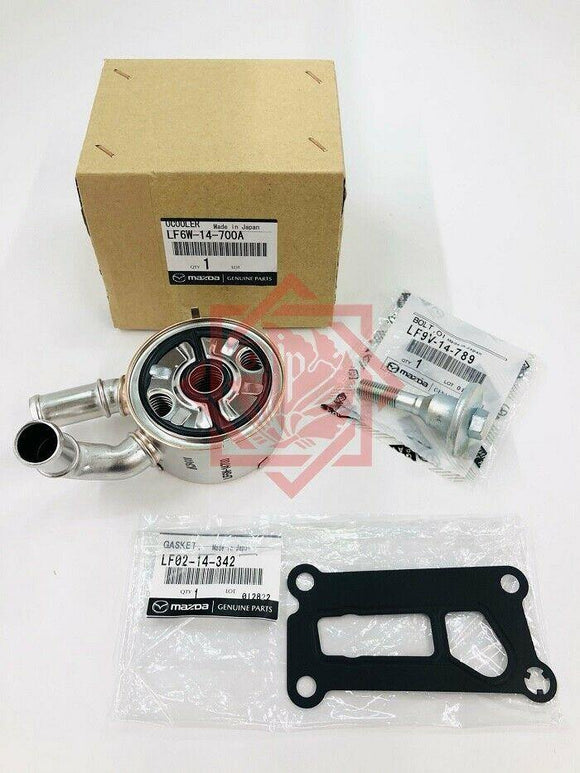 LF6W-14-700A MAZDA GENUINE OIL COOLER KIT 3/5/6 & GASKET BOLT CX-7 - JP-CARPARTS