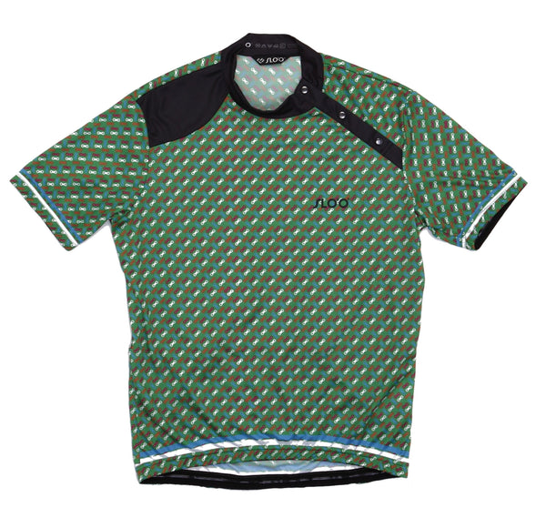 M's Classic Cycling Jersey - Green Pattern