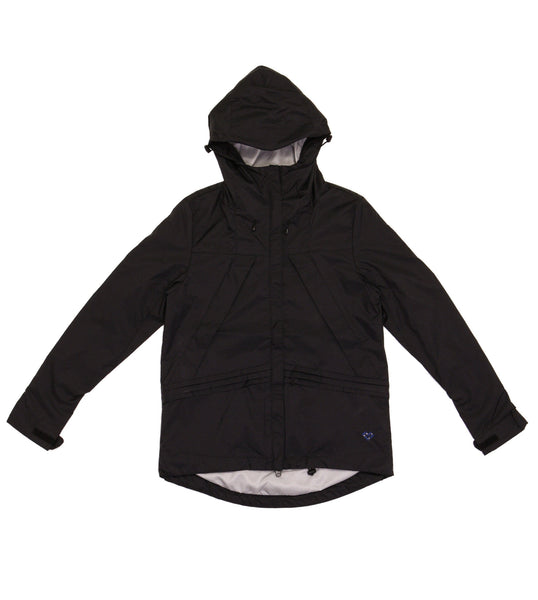 M's Double Slant Zipper Weather Proof Jacket-Black