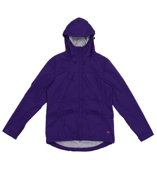 M's Double Slant Zipper Weather Proof Jacket-Purple