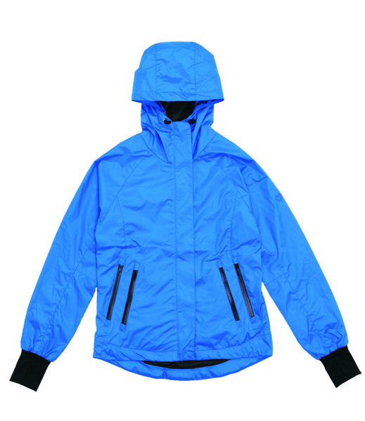 M's Double Zippers Pockets Weather Proof Jacket-Blue