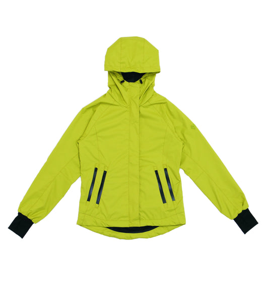 M's Double Zippers Pockets Weather Proof Jacket-Bright Green