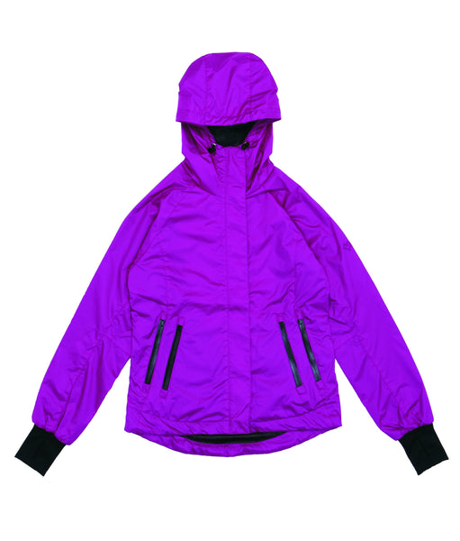 M's Double Zippers Pockets Weather Proof Jacket-Purple