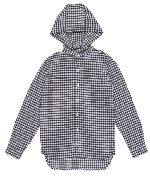 HOODY SUEDE COMMUTING SHIRT - BLACK WHITE CHECK