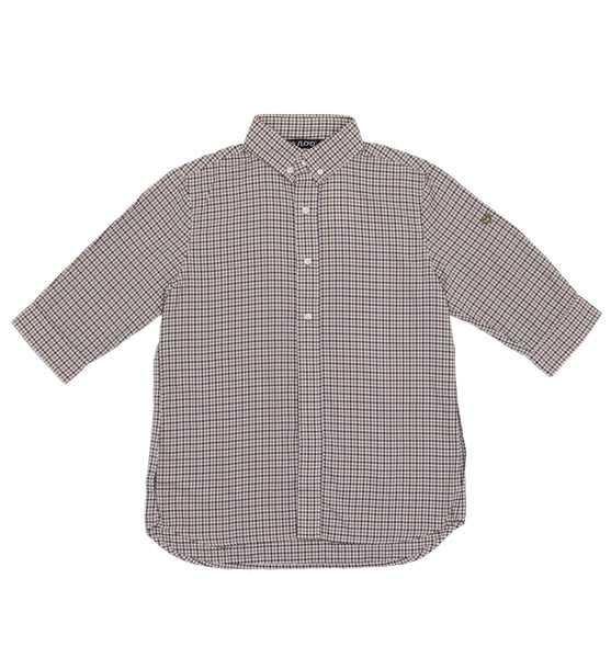 M's Traveling  and Leisure Life Style Shirt - Brown White Check