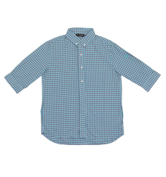 M's Traveling  and Leisure Life Style Shirt - Green Check