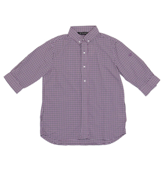 M's Traveling  and Leisure Life Style Shirt - Purple Check