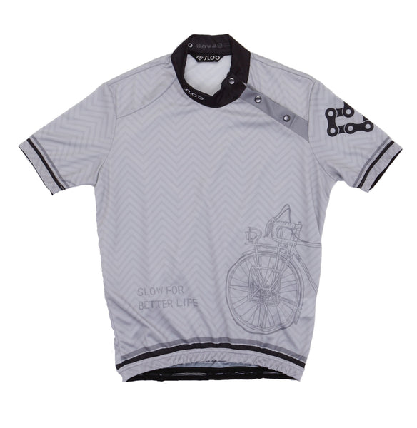 W's Classic Cycling Jersey - Vintage Bicycle Grey