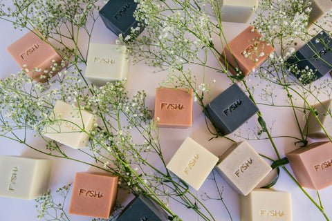 Fysha, natural soaps, olive oil soaps, palm free soaps, Elysian Theory London