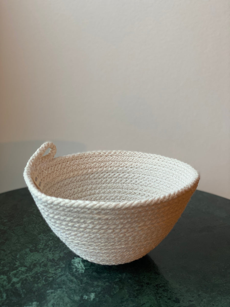 Knotsy Brighton - Pure White Cotton Everyday Bowl