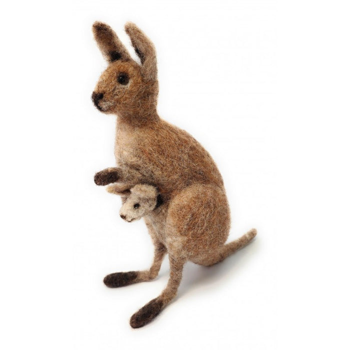 The Crafty Kit Company - Kangaroo & Joey  - Needle Felting Kit