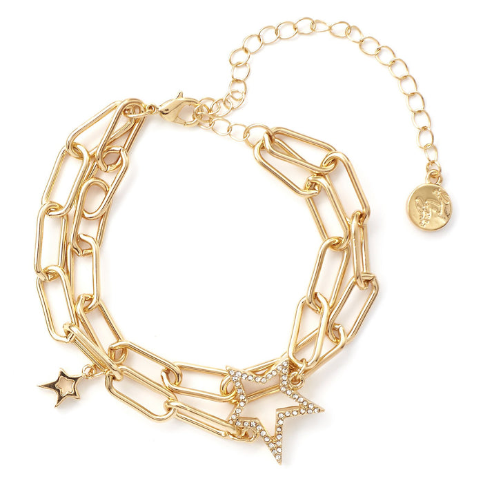 Kate Thornton 'Starry Night' Crystal Double Gold Bracelet