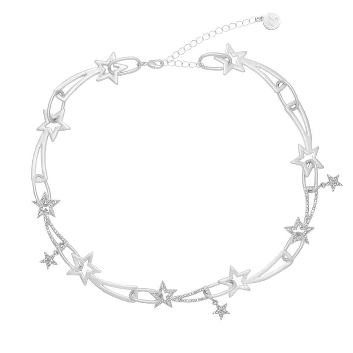 Kate Thornton 'Shooting Stars' Silver Chunky Necklace