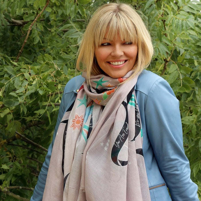 Kate Thornton 'In Girls We Trust' Grey Swallow Scarf