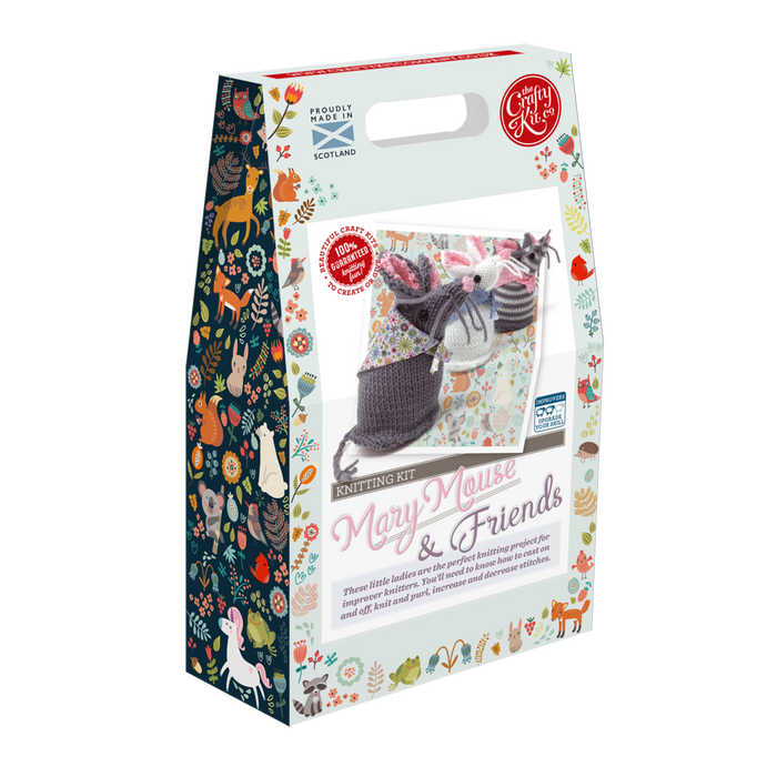 The Crafty Kit Company - Mary Mouse and Friends Knitting Kit