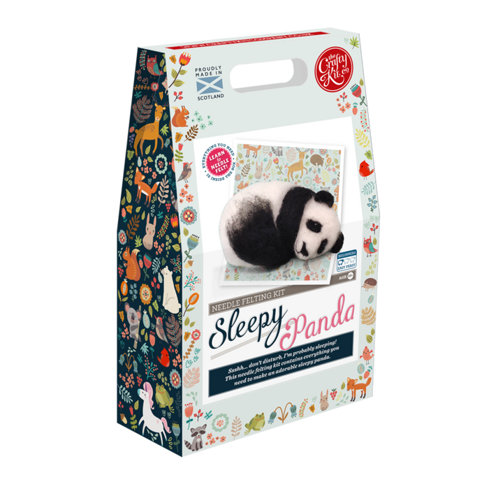 The Crafty Kit Company - Sleepy Panda - Needle Felting Kit