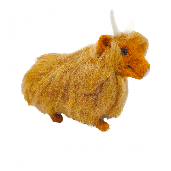 The Crafty Kit Company - Highland Cow - Needle Felting Kit