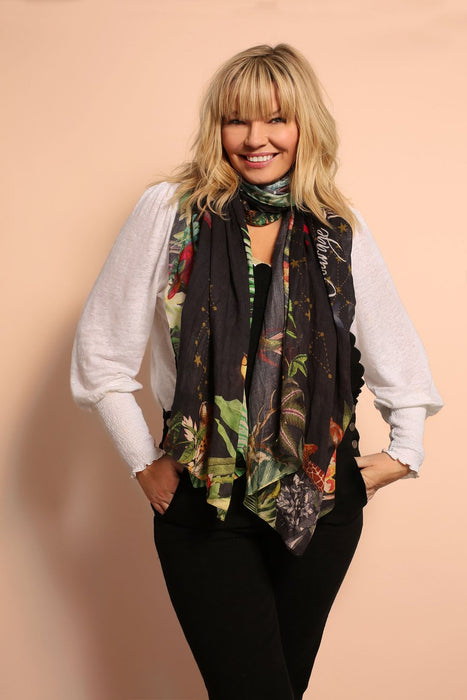 Kate Thornton 'Moral Compass' Black Scarf