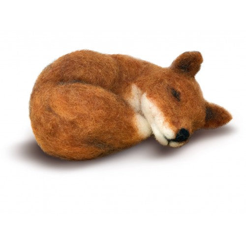 The Crafty Kit Company - Sleepy Fox - Needle Felting Kit