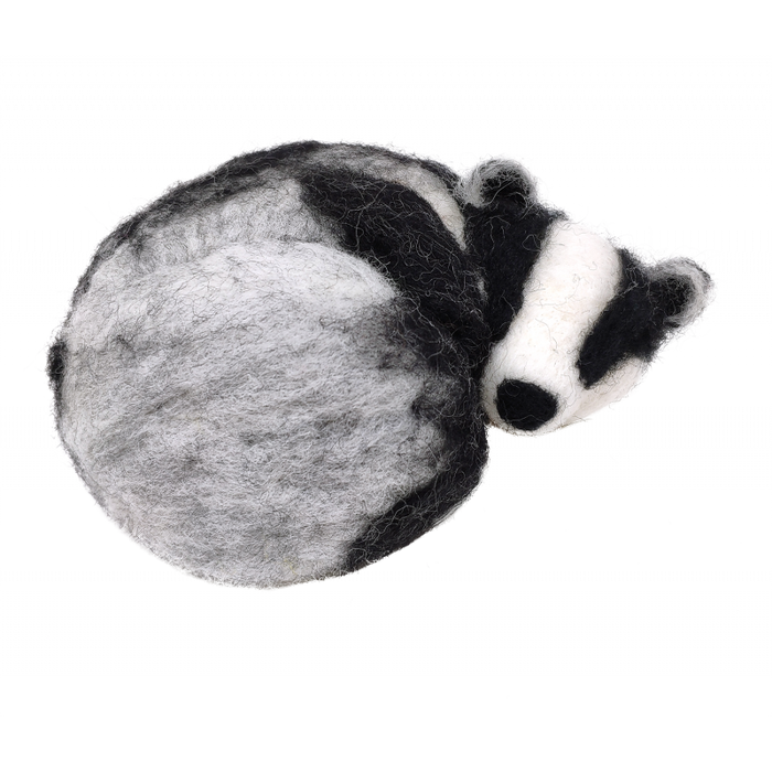The Crafty Kit Company - Sleepy Badger - Needle Felting Kit