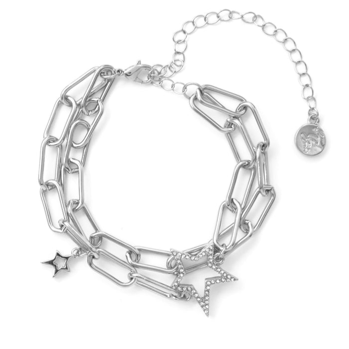 Kate Thornton 'Starry Night' Crystal Double Silver Bracelet