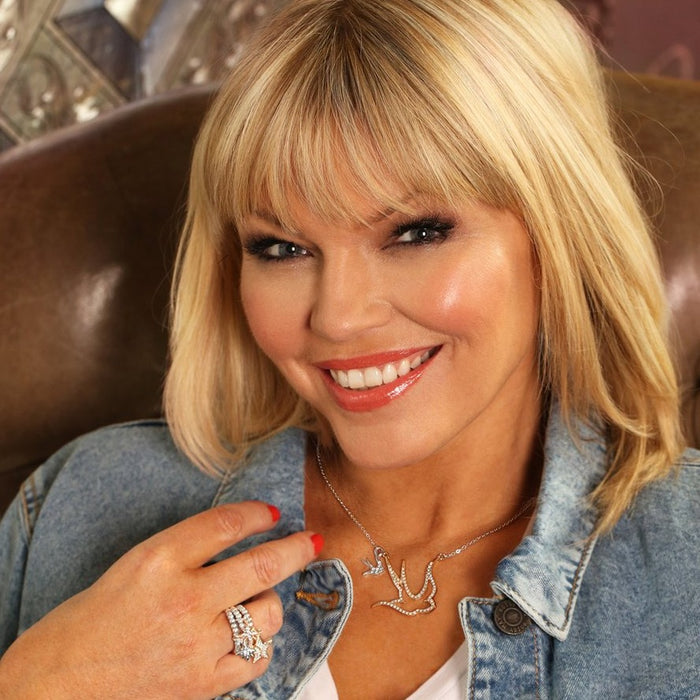Kate Thornton Mixed Metal Crystal Star Stacking Rings