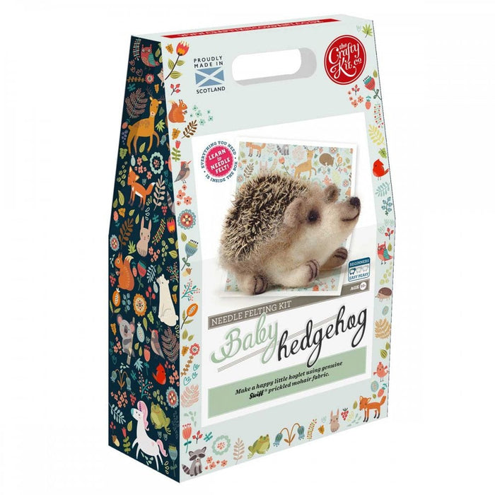 The Crafty Kit Company - Baby Hedgehog - Needle Felting Kit
