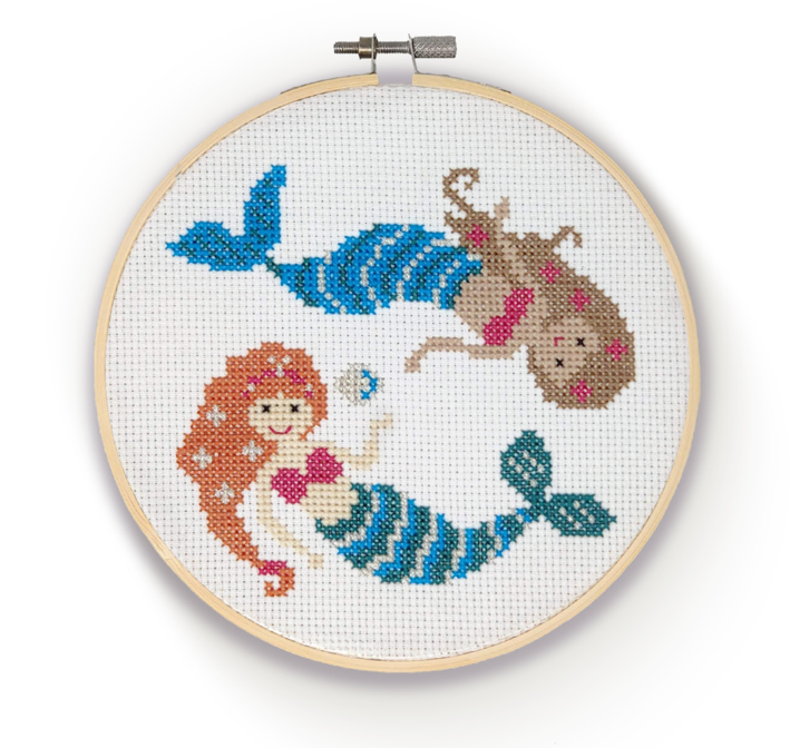 The Crafty Kit Company - Mermaids - Cross Stitch Kit