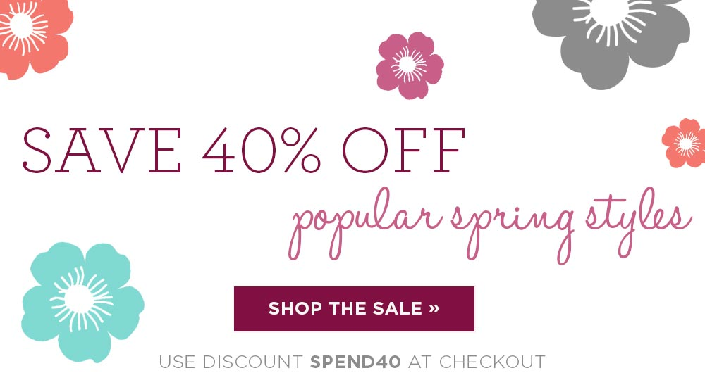 Spend $40, take 40% off