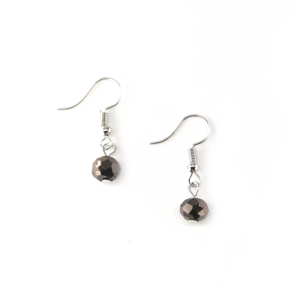 Aloo Earrings - Pewter