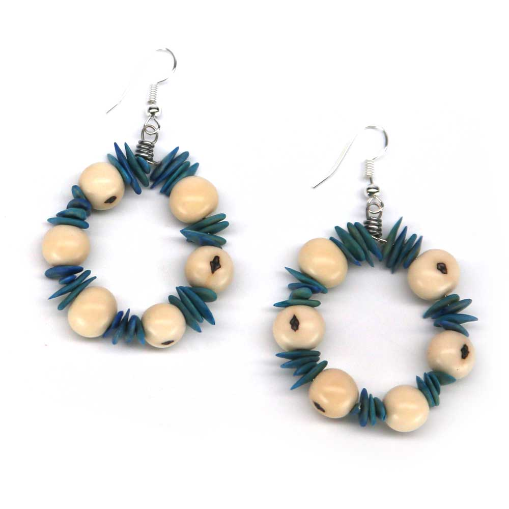 Aro Earrings - Sea Blue