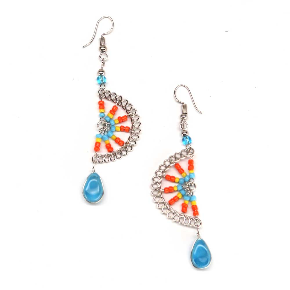 Banada Earrings - Blue Citrus
