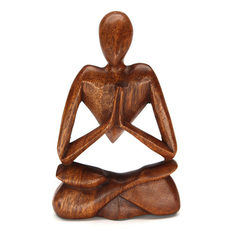 Berse Meditating Wood Carving