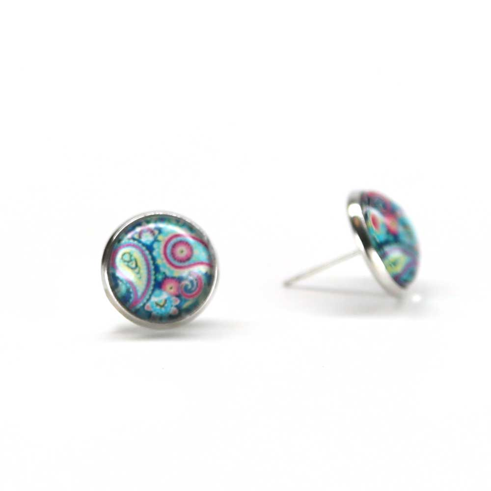 Calypso Art Glass Earrings - Blue