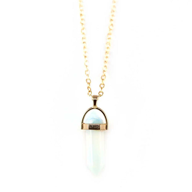 Facet Drop Necklace - Moonstone