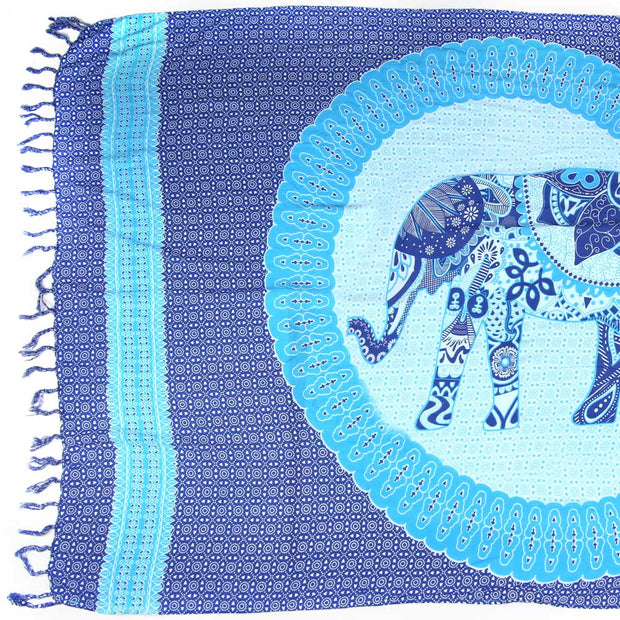 Multi-Wear Wrap - Lucky Elephant Blue
