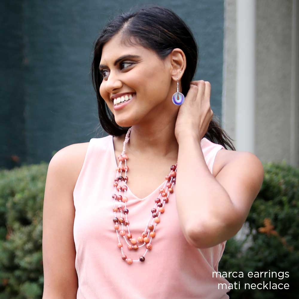 Marca Earrings - Cotton Candy