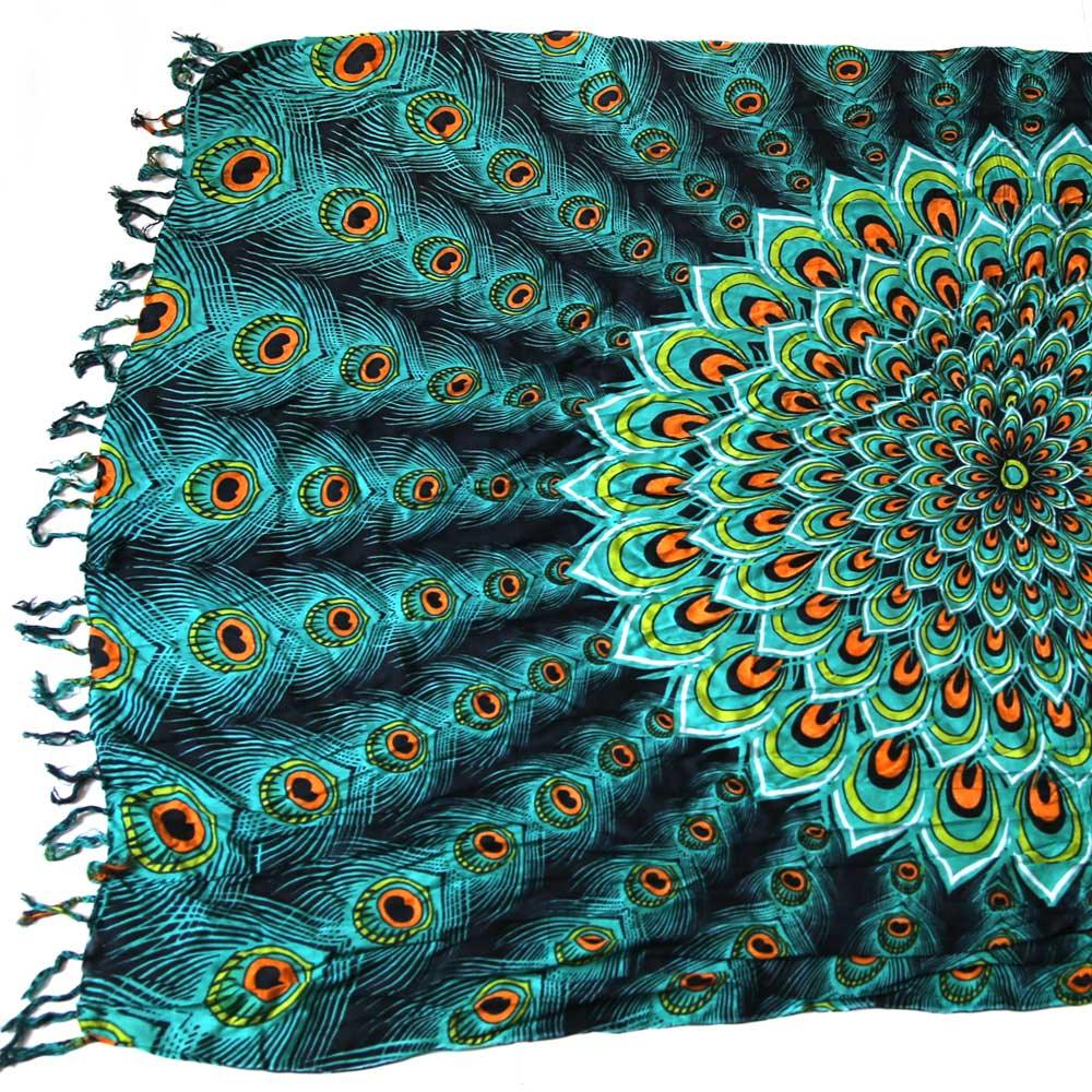 Multi-Wear Wrap - Teal Peacock
