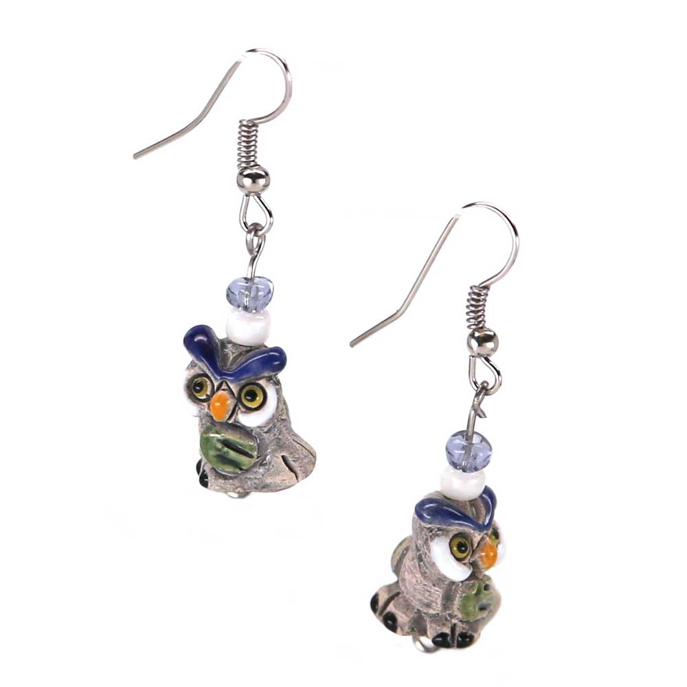 Filbert Owl Earrings