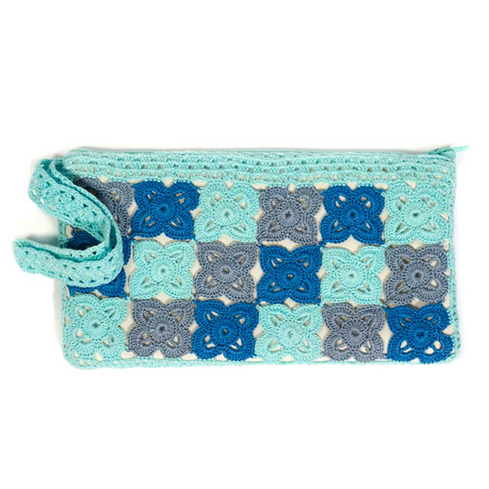 Raja Wristlet - Sea Blue
