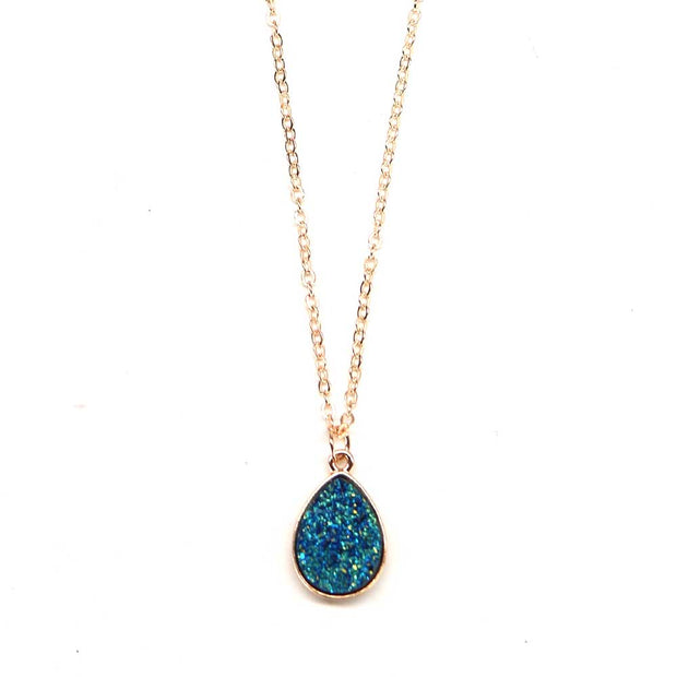Raw Stone Necklace - Cerulean