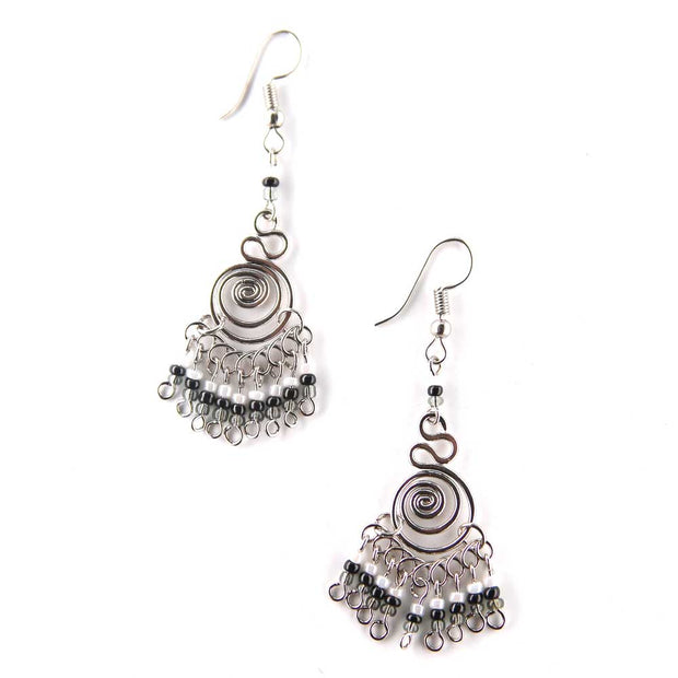 Triculo Earrings - Ebony