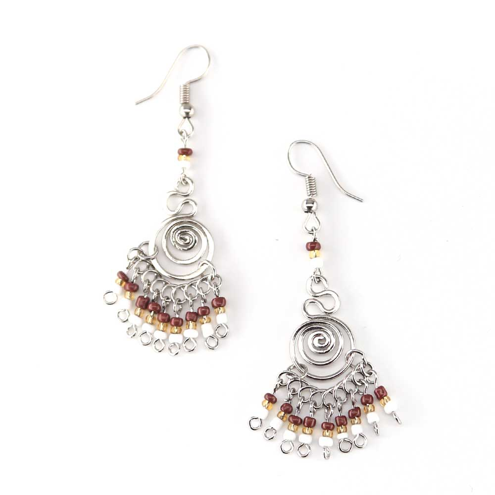 Triculo Earrings - Cocoa