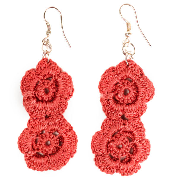 Chani Earrings - Crimson