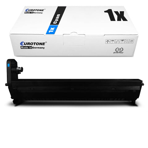 1x Alternativer Toner für OKI 43460207 Blau Cyan